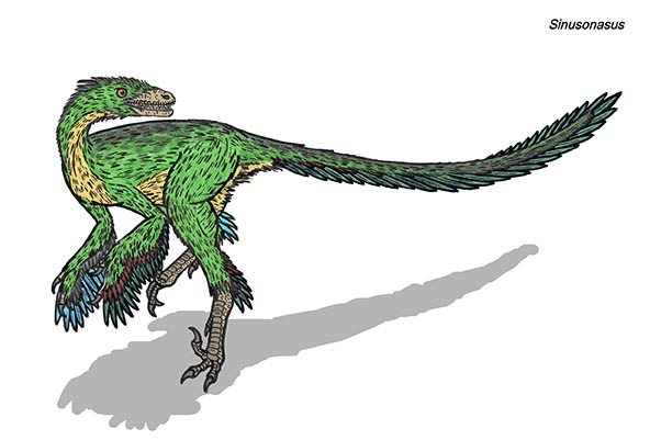 feathered dino
