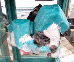 amazonite and smokey quartz from Lake George, Colorado