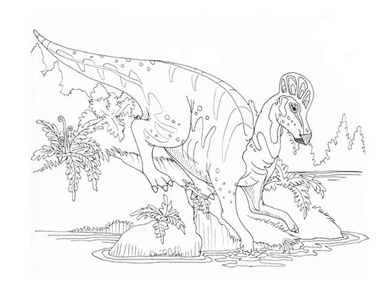 Corythosaurus Drawing
