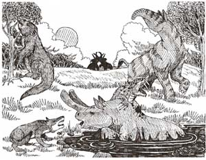 cenozoic animals coloring pages - photo#4