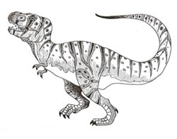 t rex drawing